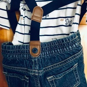 Gymboree Baby Denim Suspenders